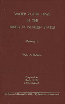 Water Rights Law in the Nineteen Western States Volume II