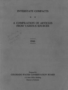Interstate Compacts: A Compilation of Articles from Various Sources