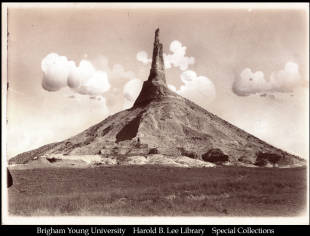 Chimney Rock near Bayard, Neb.