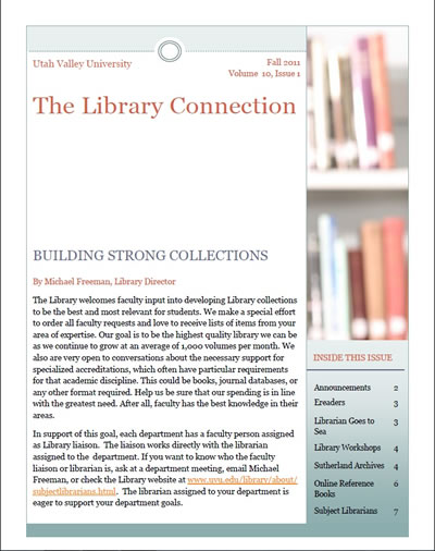 The Library Connection Newsletter