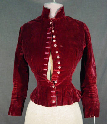 Women's burgundy silk velvet jacket