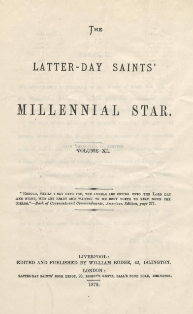 The Latter-day Saints' Millennial Star Vol. 40