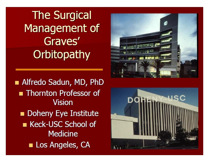 The surgical management of Graves' orbitopathy