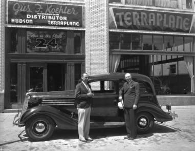 Car in Front of Gus. F. Koehler Co., Aug. 1935