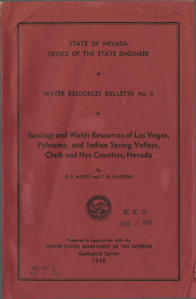 Geology and water resources of Las Vegas