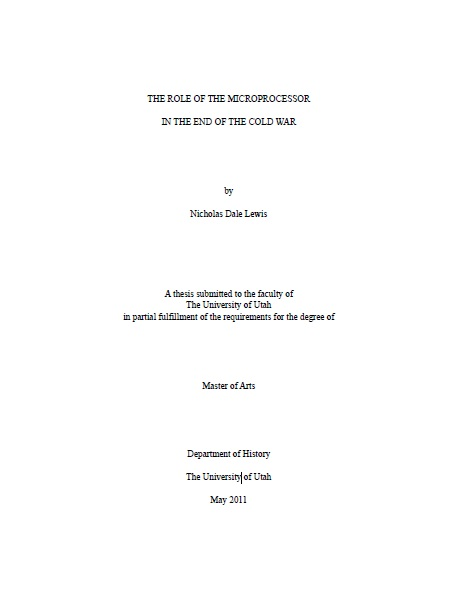 University of Utah Theses and Dissertations