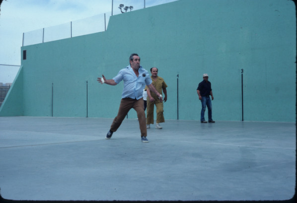 A Basque Man Playing Pelota
