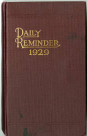1929 Annie Taylor Dee Diary