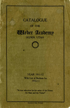 1911-1912 Catalogue of the Weber Academy