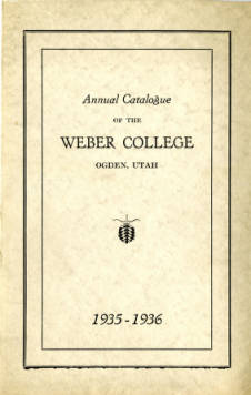 1935-1936 Catalogue of the Weber College
