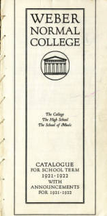 1921-1922 Catalogue of Weber Normal College