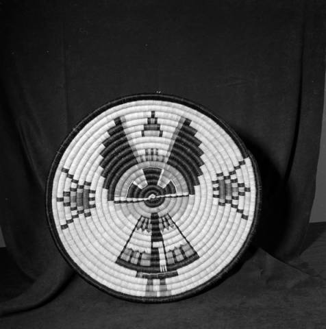 Angwusnasomyaqa (Crow Mother Kachina) coiled plaque