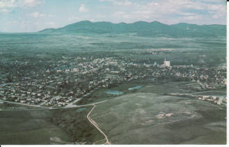 Aerial View of Lewistown, Montana