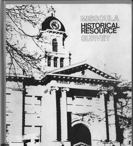 Missoula Historical Resource Survey