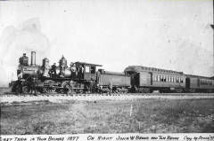 First Train in Twin Bridges