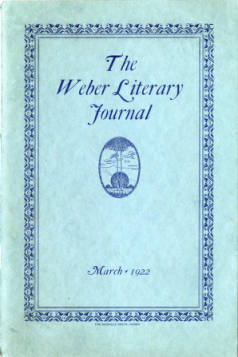 1922 The Weber Literary Journal Vol. 2 No. 2 March