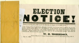 Election Notice for French Bar Station Precinct