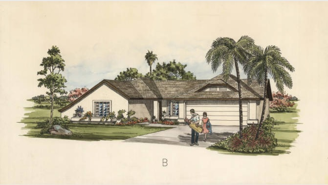 Bill Baldwin/Jane Karl Rendering of Golf Couple and Home