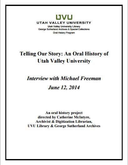 Interview with Michael Freeman
