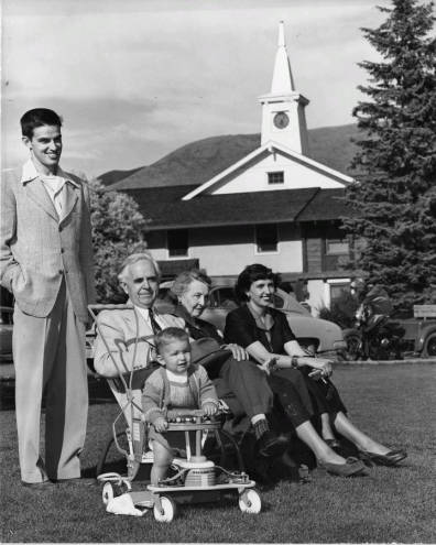 Frank Church, Bethine Church, Forrest in Sun Valley, Idaho with Chase and Jean Clark.