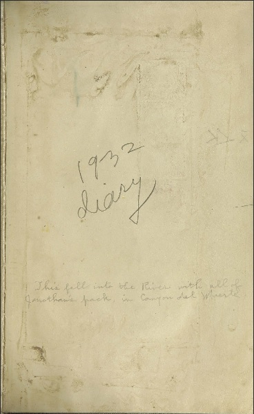 <em>Everett Ruess 1932 diary</em>