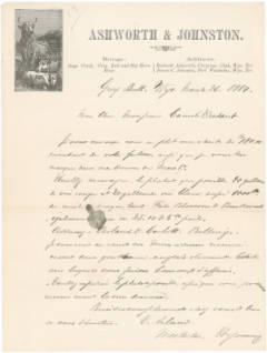 <em>Letter from Victor Arland in Greybull, Wyoming to Camille Dadant 1</em>