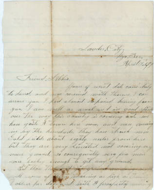 Letter from Charles Rapp to Libbia Shepard