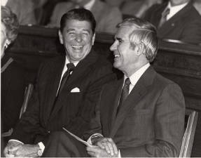 Photograph of Paul Laxalt and Ronald Reagan, 1979