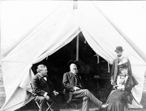William F. Cody in front of his tent