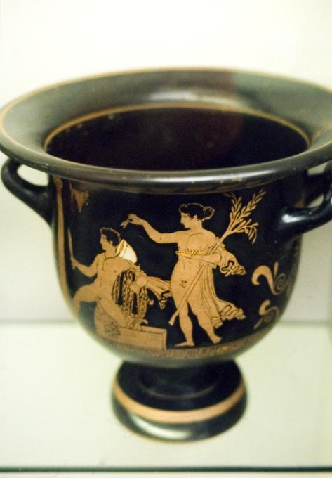 Orestes at Delphi (Pottery: red-figured bell-krater (wine-bowl))