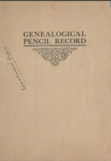 Genealogical Pencil Record (Woodward family)