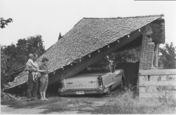 1962 Cache Valley earthquake – collapsed brick garage