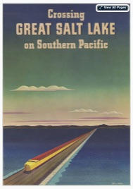 Crossing Great Salt Lake on Southern Pacific